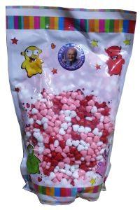 סוכריות סודה 1.5 קג לבבות ורוד אדום