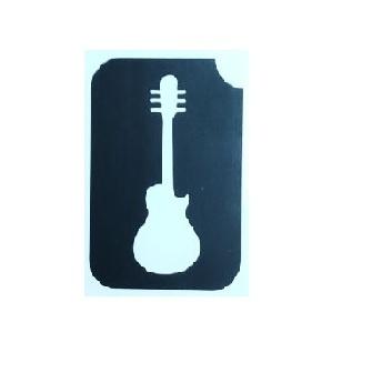 שבלונה לקעקועים גיטרה