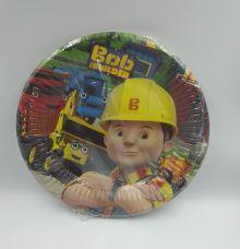 8 צלחות בוב הבנאי קטן-במבי הפתעות