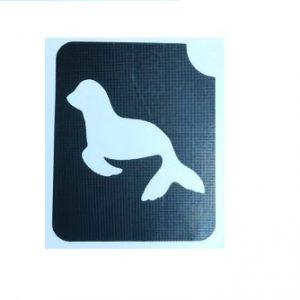 שבלונה לקעקועים כלב ים