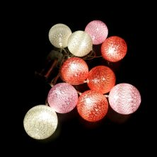 שרשרת אורות ורוד אדום לבן-במבי הפתעות