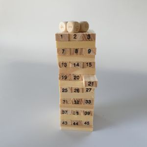 משחק ג'נגה - מגדל קוביות-במבי הפתעות