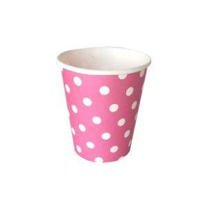 כוס חם קר בורדו עם נקודות-במבי הפתעות