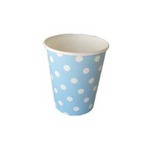 כוס חם קר תכלת עם נקודות-במבי הפתעות